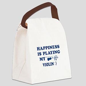 Violin Vector Designs Canvas Lunch Bag