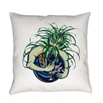 Green Man Cradling Earth Everyday Pillow