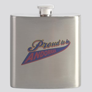 Proud to be Andorran Flask