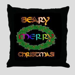 BEARY BEARY CHRISTMAS Throw Pillow