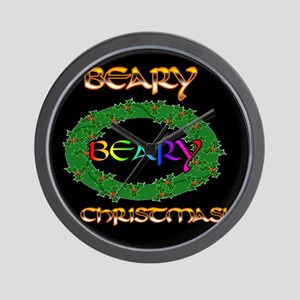 BEARY BEARY CHRISTMAS Wall Clock