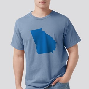Georgia State Shape Outl Mens Comfort Colors Shirt