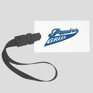 Proud to be Greek Large Luggage Tag