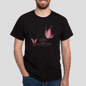Pink Butterfly Dark T-Shirt