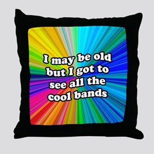 All The Cool Bands Throw Pillow