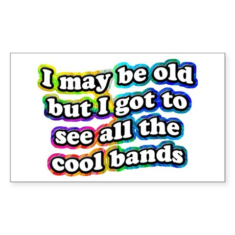 All The Cool Bands Sticker (Rectangle)
