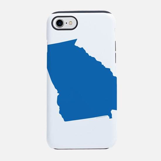 Georgia State Shape Outline iPhone 7 Tough Case