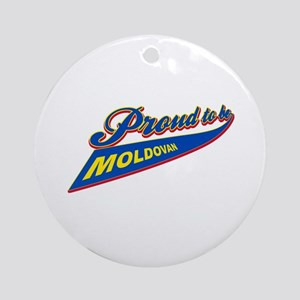 Proud to be Moldovan Ornament (Round)