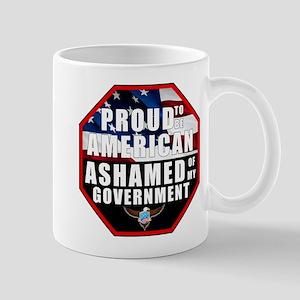 Proud USA Ashamed Government Mug