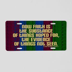 Hebrews 11 1 Faith Aluminum License Plate