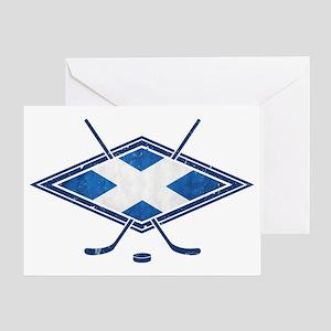 Scottish Ice Hockey Flag Greeting Card