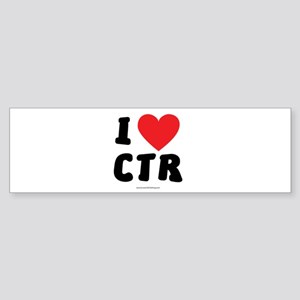 I Love CTR - LDS Clothing - LDS T-Shirts Bumper St