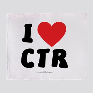 I Love CTR - LDS Clothing - LDS T-Shirts Throw Bla