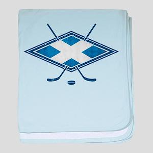 Scottish Ice Hockey Flag baby blanket