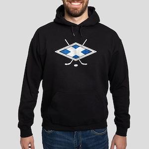 Scottish Ice Hockey Flag Hoodie
