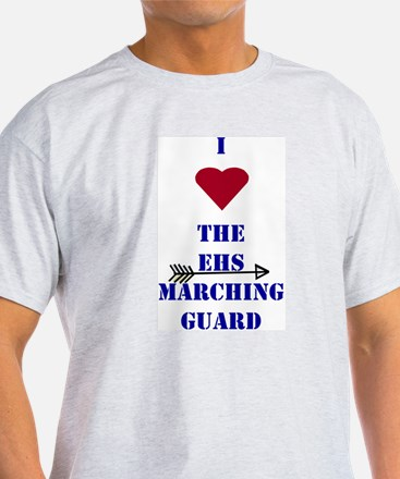 I Heart The EHS Marching Guard Ash Grey T-Shirt