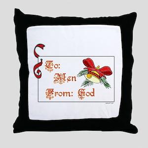 To: Men Throw Pillow