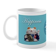 Japanese Fortune Cats Mug - Happiness