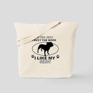 Staffy dog breed designs Tote Bag