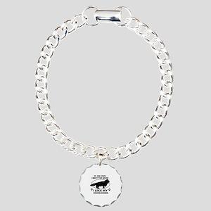 Sussex Spaniel dog breed designs Charm Bracelet, O