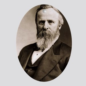 Rutherford B. Hayes Ornament (Oval)
