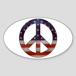 Weathered Flag Peace Sign Sticker