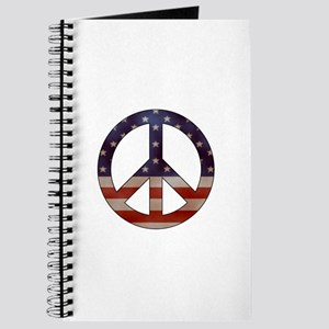 Weathered Flag Peace Sign Journal