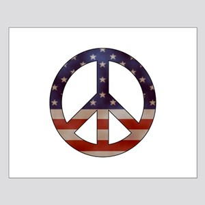 Weathered Flag Peace Sign Posters