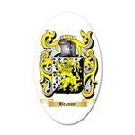 Brandel 35x21 Oval Wall Decal