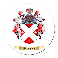 Brampton Round Car Magnet