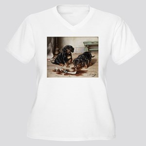 Adorable Dachshund Puppies Plus Size T-Shirt