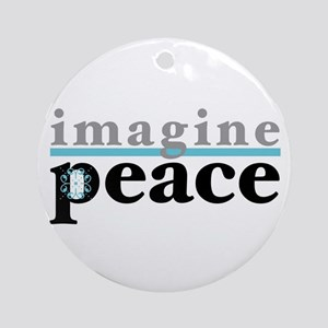 Imagine Peace Ornament (Round)