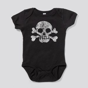 Worn Skull And Crossbones Baby Bodysuit