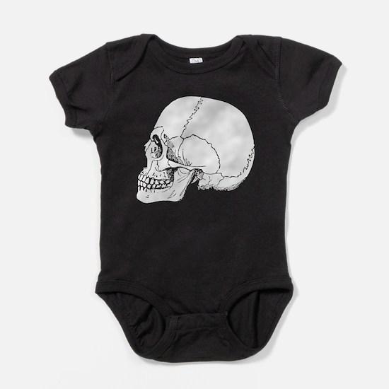 Skull In Profile Baby Bodysuit