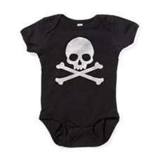 Simple Skull And Crossbones Baby Bodysuit