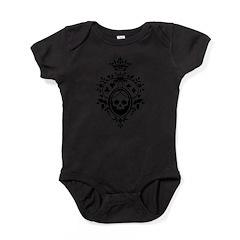 Gothic Skull Crest Baby Bodysuit