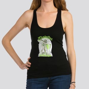 Absinthe Fairy With Glass Racerback Tank Top