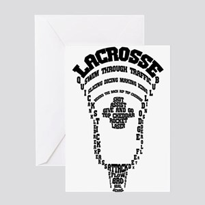 Lacrosse Head Attack Greeting Card