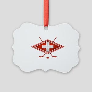 Schweiz Eishockey Logo Ornament