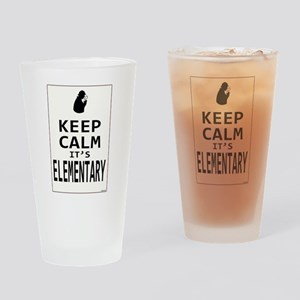 Keep Calm it's Elementary Drinking Glass