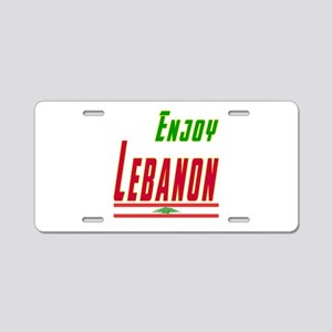 Enjoy Lebanon Flag Designs Aluminum License Plate