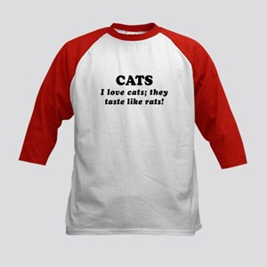 Saying: Love Cats Kids Baseball Jersey