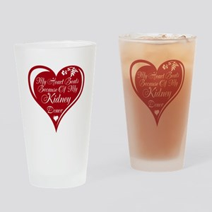 Personalize me Red Transplant Heart Drinking Glass
