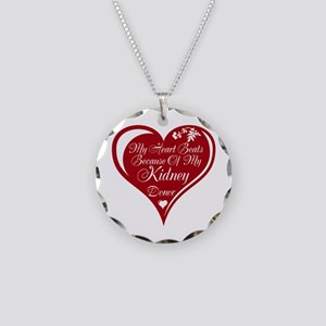Personalize me Red Transplant Heart Necklace Circl