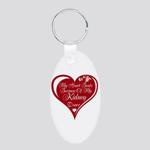 Personalize me Red Transplant Heart Aluminum Oval