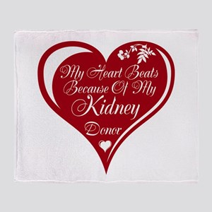 Personalize me Red Transplant Heart Throw Blanket