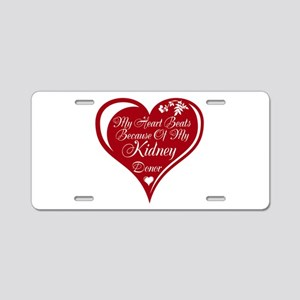 Personalize me Red Transplant Heart Aluminum Licen
