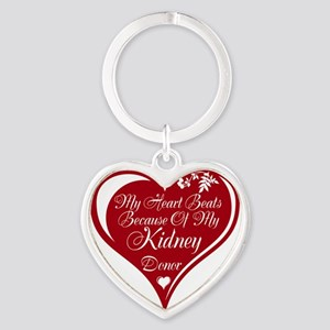 Personalize me Red Transplant Heart Heart Keychain