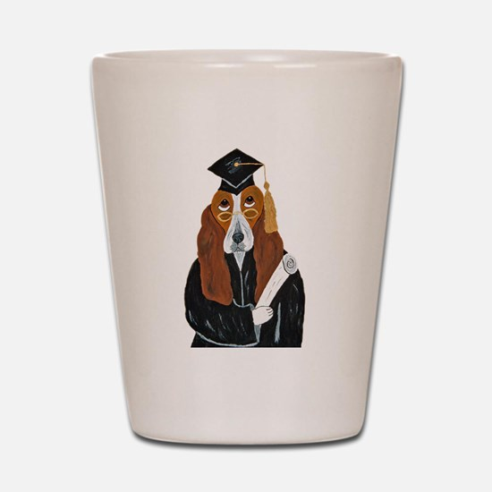 Basset Hound Graduate Shot Glass