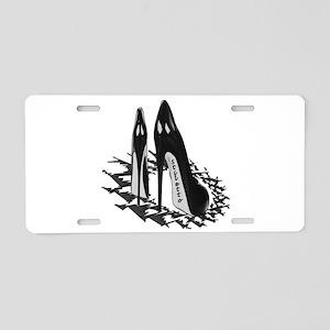 Clasic Black Pumps Aluminum License Plate